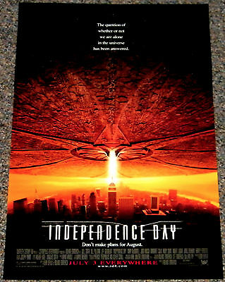 INDEPENDENCE DAY 1996 ORIG. 13x20 MOVIE POSTER! WILL SMITH ALIEN INVASION EPIC!