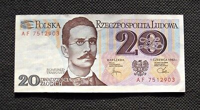 Bank Note Of Poland (People's Republic) 20 Zloty R.traugutt (Great Condition)