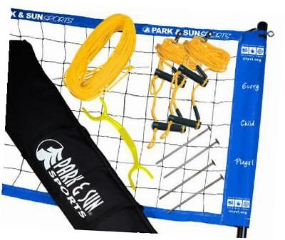 portable outdoor youth volleyball net system: official usyvl with adjustable