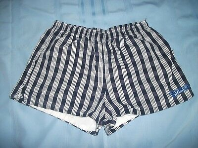 Navy Blue Cotton Made in Hawaii  PALAKA Shorts Embroidered Kamehameha Warriors L