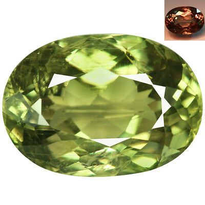 7.68Ct Very good Oval Cut 14 x 10 mm AAA Color Change Turkish Diaspore