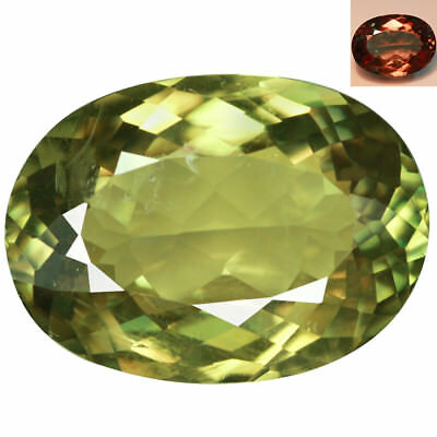 7.87Ct Shimmering Oval Cut 15 x 11 mm AAA Color Change Turkish Diaspore