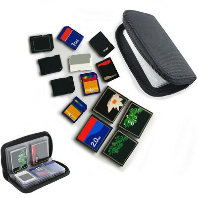 New Memory Card Carrying Case for SDHC, SD Cards, 8 Pages and 22 Slots US