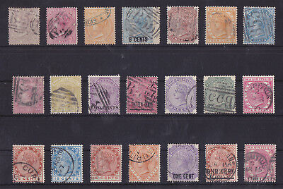 MAURITIUS 1860-1893 Used QV Classic Lot of 21 Stamps Unchecked