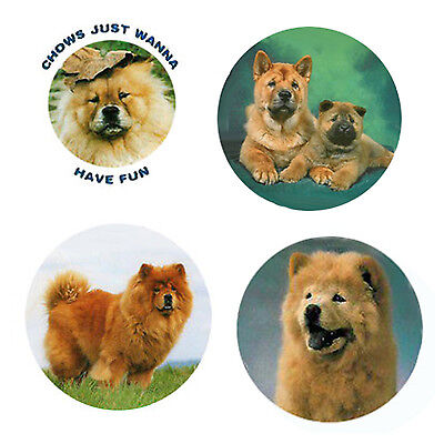 Chow Chow Magnets: 4 Way-Cool  Chows for your Fridge or Collection-A Great Gift