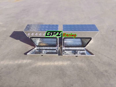 "24""x10""x16""Pair Aluminium Undertray Under Tray Underbody Ute Tool Box toolbox"