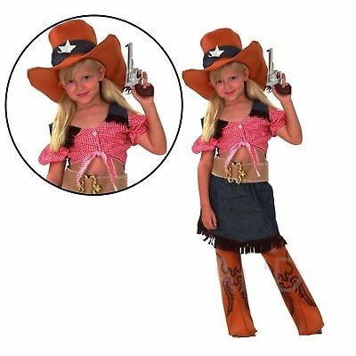 New Kids Girls Sassy Cowgirl Costume Complete Outfit Party Fancy Dress 3-12Years  sc 1 st  PicClick UK & NEW KIDS GIRLS Sassy Cowgirl Costume Complete Outfit Party Fancy ...