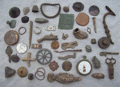 Dug Big Lot Artifacts/Partifacts Metal Detecting Finds 1500's And Later.