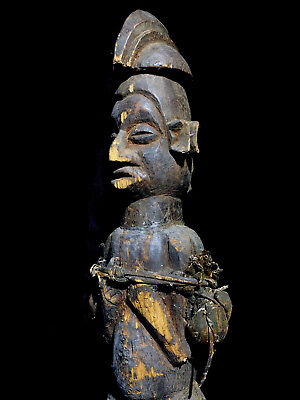 old Ritually used fertility ancestor pair (double figure) CONGO