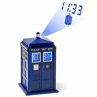 Doctor Who Tardis Projection Alarm Clock New Dr Official