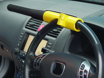 Streetwize SWBBL Baseball Bat Steering Wheel Lock - Yellow