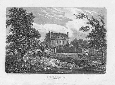LONDON View at Spring Grove, Middlesex - Antique Print 1815
