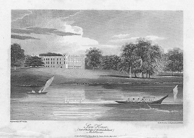 LONDON View of Syon House, Middlesex - Antique Print 1806