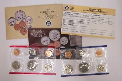The United States Mint 1990 Uncirculated Coin Set w/ D and P Mint Marks