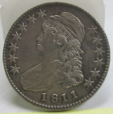 "1811 ""Small 8"" Capped Bust Half Dollar O-105a XF  #"