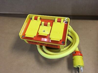 Ericson GOV 1062 Ground Guardian Portable GFCI 20 Amp 4 Outlets 120 VAC GFP20M
