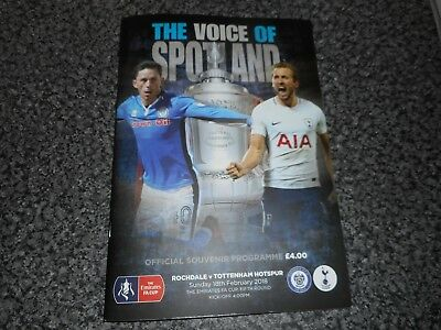 ROCHDALE  v  TOTTENHAM HOTSPUR ' SPURS '  2017/18 F A CUP  84  SOLD *TOP SELLER*