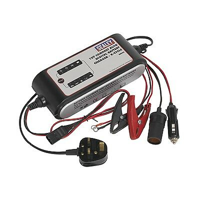 Sealey Compact Auto Digital Battery Charger - 9-Cycle 12V SMC04 SMC04