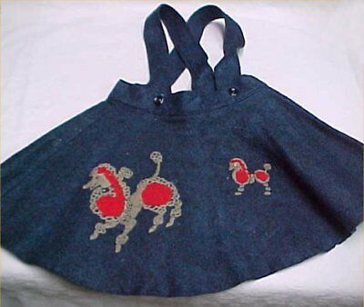 Vintage Antique Baby Doll Dress Little Girl Poodle Skirt Suspenders Classic 50s