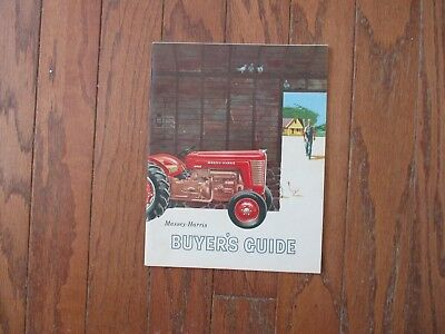 """Massey-Harris Buyers Guide.the New """"mh50""""..""""333""""..""""444""""..""""555"""" Tractors...good+"""