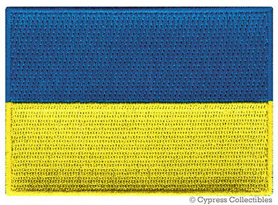 UKRAINE NATIONAL FLAG PATCH UKRAINIAN EMBLEM EMBROIDERED iron on APPLIQUE RUSSIA