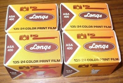 Vintage Longs Film Asa 400 Expired Jan. 1987 - Sealed Lot Of (4)