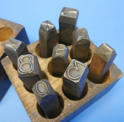"""ANTIQUE VINTAGE STEEL STAMPS - LETTER NUMBERS 1/2"""" & 3/8"""" machinist tools"""