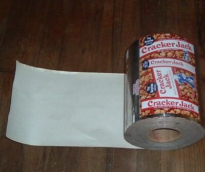 c.1968 Cracker Jack Candy Advertising Foil factory Box Wrapper Roll 700 Wraps