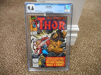Thor 414 cgc 9.6 Marvel 1990 WHITE pages NM MINT Hercules Ulik movie Avengers
