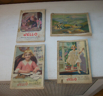 Lot of 4 Jello Booklets 1917, 1918, 1923 and 1925