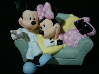 Precious Moment-Disney-Mickey/Minnie On Couch-Together Is The Nicest Place To Be