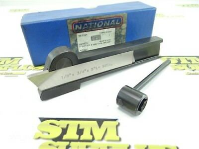 """National Cut Off Parting Blade Tool Holder 1/2""""x1-3/64"""" Shank + Blade & Wrench"""