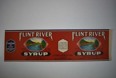Vintage Label Flint River brand Syrup Cairo Syrup co Montgomery Alabama