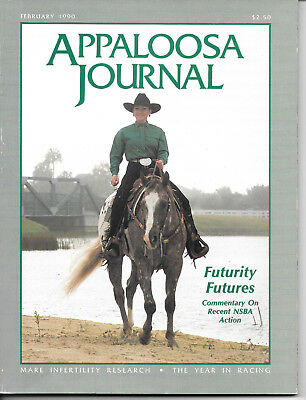 Appaloosa Journal Horse Magazine February 1990 Equine Breed Journal