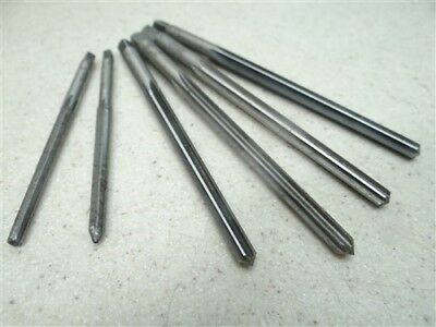 Lot Of 6 Hss Taper Pin Reamers #0.0, #0.1, #3 & #4 Morse Cleveland
