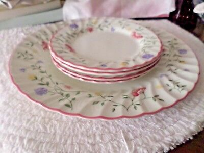5 Pieces Of Johnson Brothers Summer Chintz Dinner Plate 4 Bread \u0026 Butter Plates & 5 PIECES Of Johnson Brothers Summer Chintz Dinner Plate 4 Bread ...
