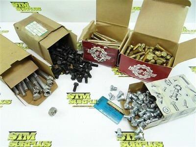 "Big Lot Of New Hex Head Bolts 3/8""-16 To 1/2""-13"