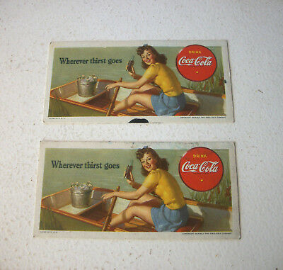 Two Coca Cola Blotters 1942