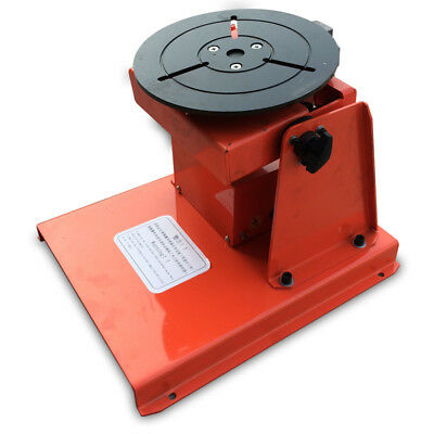 "10KG110v Rotary Welding Positioner Turntable Table  Mini 2.5"" 3 Jaw Lathe Chuck"