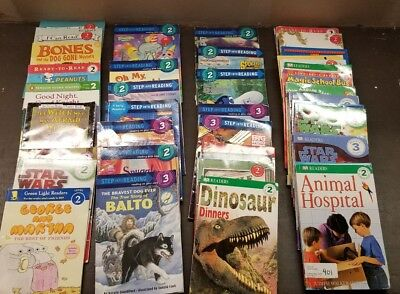 Lot of 15 Level 2 & 3 Ready to/I Can Read Step into Reading Learn Read Books MIX