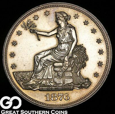 1876 Trade Dollar PROOF, A Mere 1150 PR Minted, Popular PF Series, ** Free S/H!
