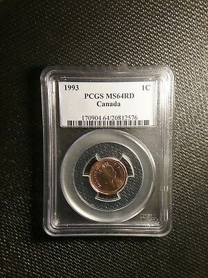 1993 Canada Small Cent PCGS MS64RD