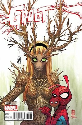 GROOT #1, GWEN STACEY GWOOT VARIANT, New, First print, Marvel Comics (2015)