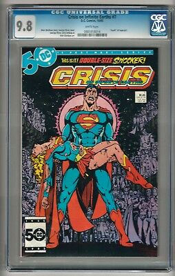 """Crisis on Infinite Earths #7 (1985) CGC 9.8 White Pages  """"Death of Supergirl"""""""