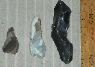 Neolithic Flint Pointed Tools /borers ,arrowhead (British)