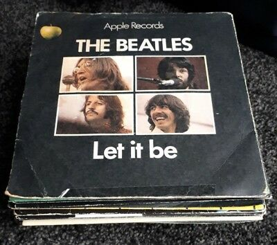 Job Lot x 37 BEATLES SINGLES + SOLO RELEASES - ALL LISTED *LOOK* *Good - EX*