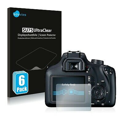 6x Savvies Screen Protector for Canon EOS 4000D Ultra Clear