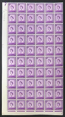 Isle of MAN 1963 3d CHALKY PAPER Cat £2,880 As Singles Complete Sheet 240 NC2013