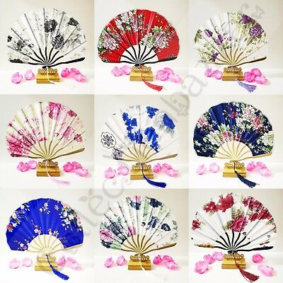 Chinese Shell Shape Folding hand fan for Wedding Gift/ Collection You Pick