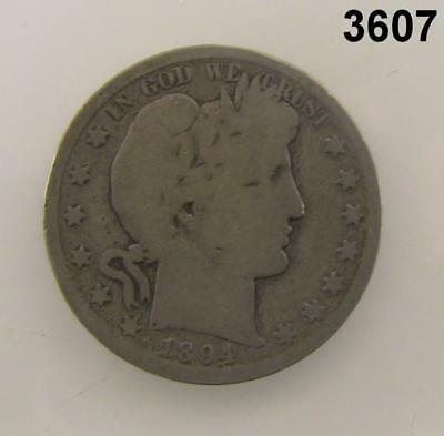1894 S Barber Half Dollar Better Date Good Condition! #3607